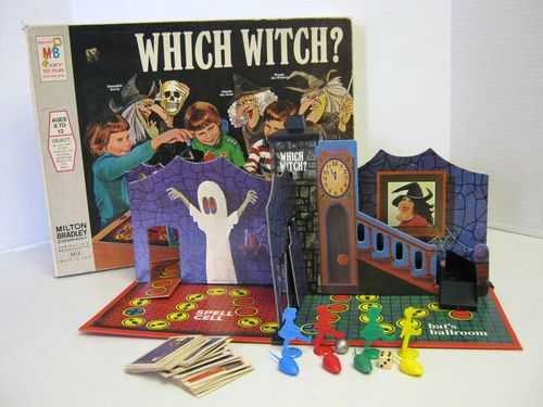 Which Witch Vintage Board Game 1970 Milton Bradley
