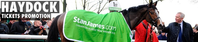Fancy going to see the StanJames.com Champion Hurdle trial at Haydock on January 19th for half price? Well now you can, thanks to our good friends at Haydock Racecourse. They are offering half price admission for all StanJames customers. What better excuse do you need for a day at the races?
