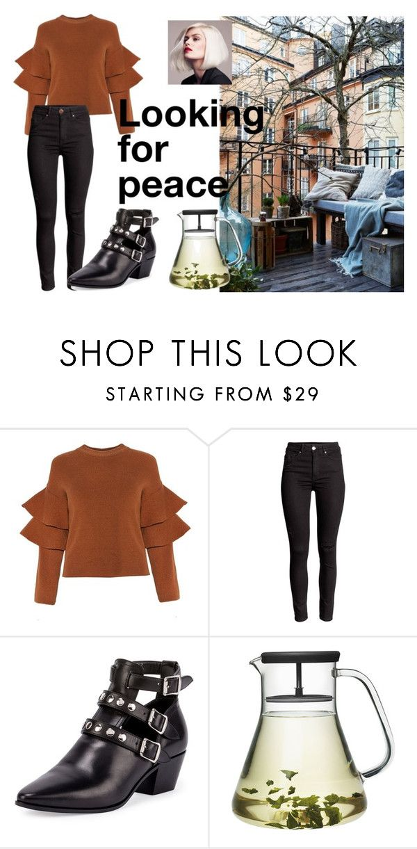 #peace by slounis on Polyvore featuring uroda and Yves Saint Laurent