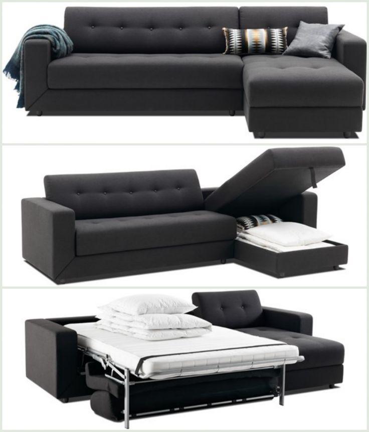 Luksus sovesofa med chaiselong. Se flere multifunktionelle møbler på bloggen frubruun.dk