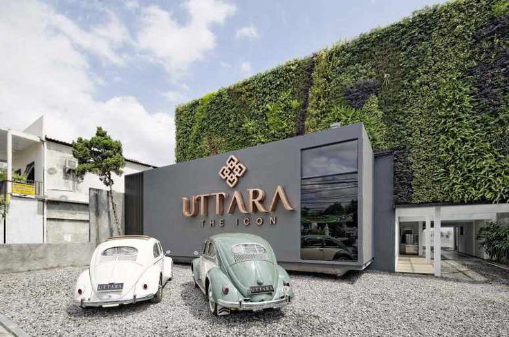 Gerbang Utama apartemen Uttara The Icon di Yogyakarta.