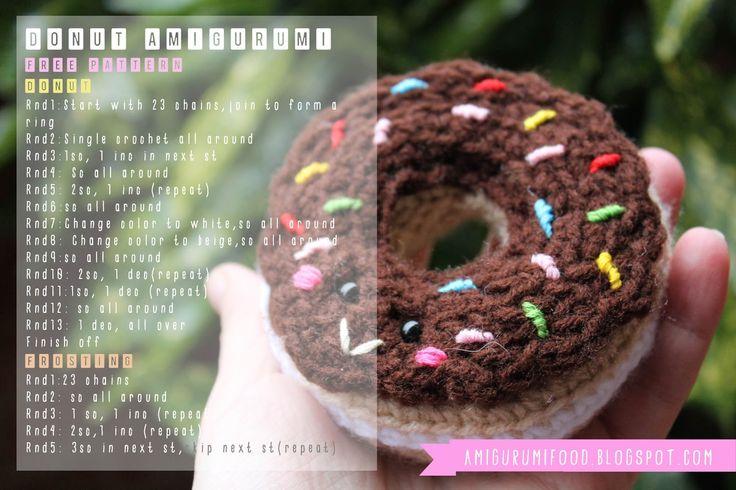 Amigurumi Food: Donut Amigurumi Free Pattern