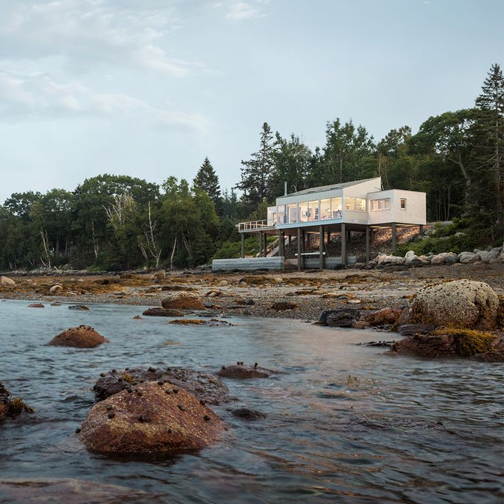 Local Architects Elliot + Elliot Have Completed A Seaside Residence That  Juts Out Over The Rocky Maine Shoreline