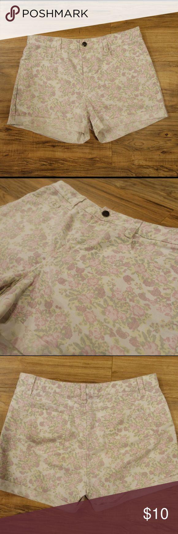 Floral denim shorts EUC! Adorable floral high waisted shorts.   Waist 16.5 Rise 10.5 Inseam 3 Reiss Shorts