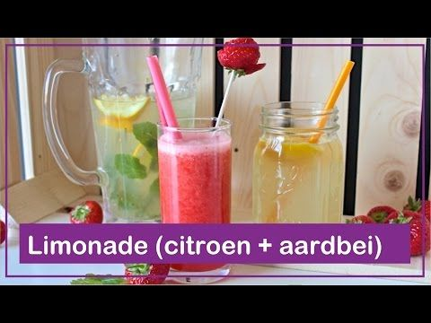 Citroenlimonade + aardbeienlimonade - Foodgloss - YouTube