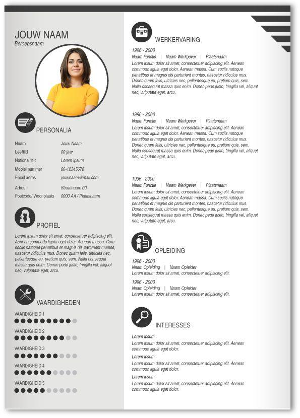 meer dan 1000 idee u00ebn over cv ontwerp op pinterest