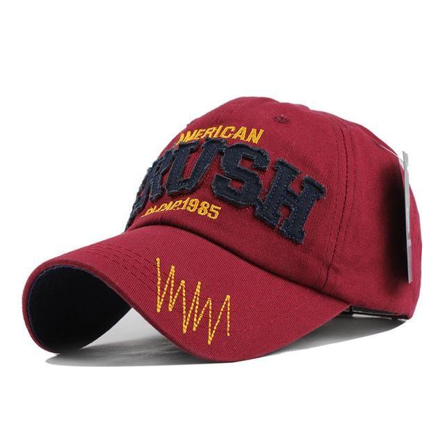 [FLB] Cotton Letter CRUSH Brand Baseball Cap Hats for Men Women Snapba