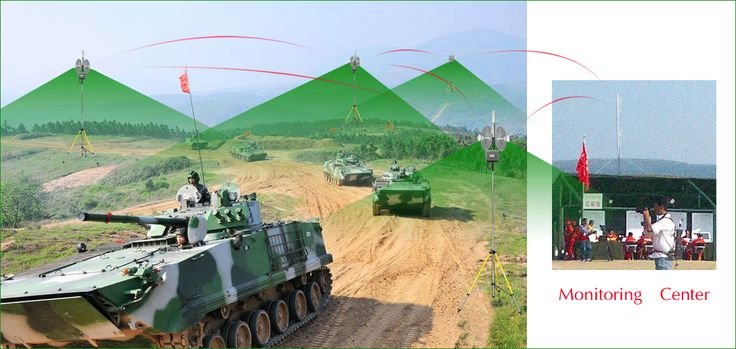 Military mobile vehicle panzer drills wireless mesh network coverage with roaming fucntion.