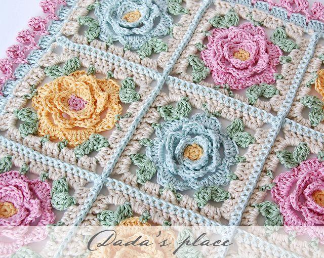 Dada's place: Japanese crochet flowers