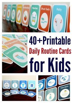 These printable routine cards made our toddler routines so much easier! | Stay at home mom schedule | Toddler schedule | Printables