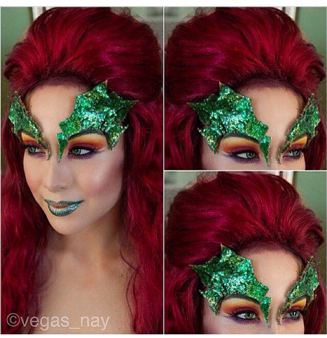 Maquillaje fantasía de hiedra venenosa