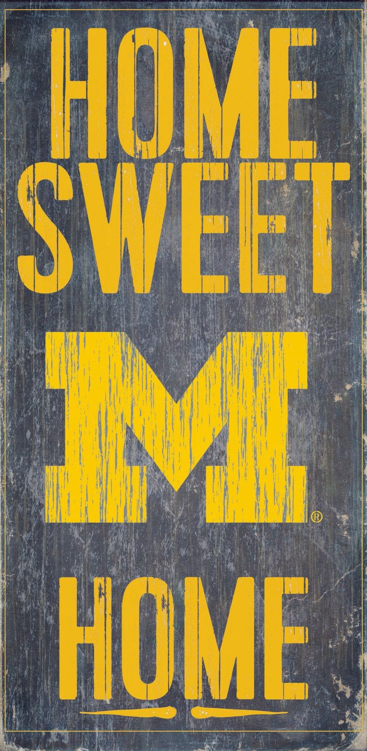 Officially Licensed Michigan Football Home Sweet Home Sign