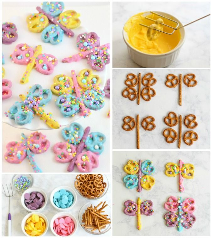 Butterfly Pretzels   The best treat for a summer birthday party!