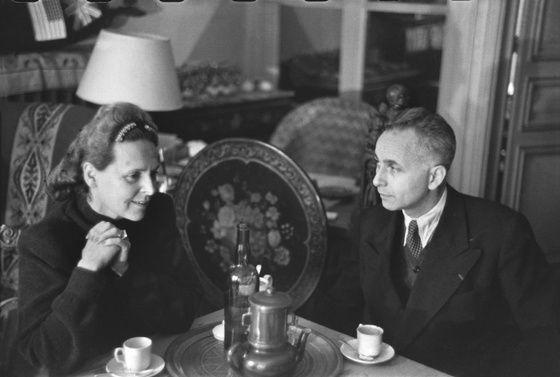 Elsa Triolet et Louis Aragon.