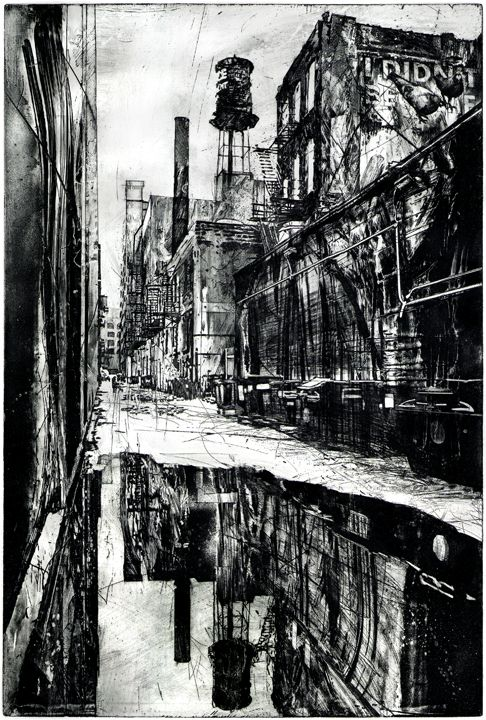 Michael Goro etching