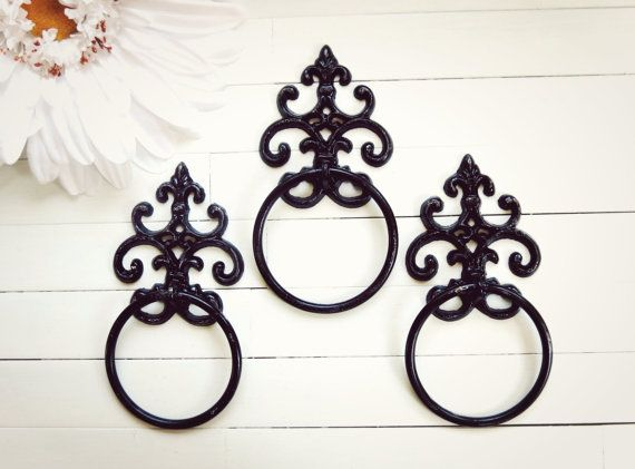 One Towel Holder / Towel Ring / Towel Rack / by WillowsGrace, $16.00