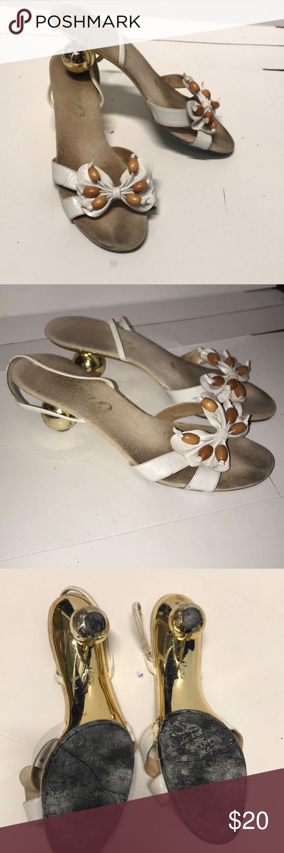 Unique heels Preloved priced accordingly  Onex size 8 Onex Shoes Heels