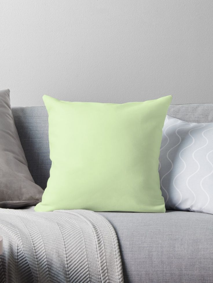 'Cool Cucumber' Throw Pillow by Moonshine Paradise #cool #cucumber #pantone #pillows #decor