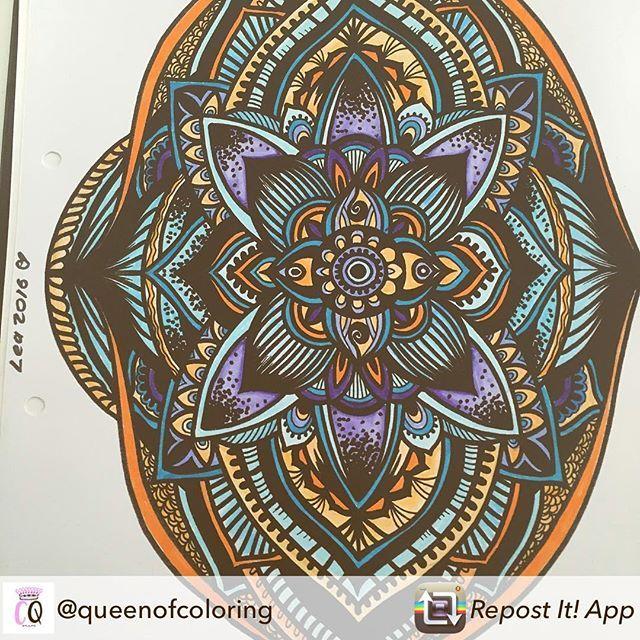 Repost from @queenofcoloring using @RepostRegramApp - Sunday afternoon relaxation #tombowmarkers #coloring #relax #boho #relaxation #arttherapy ##etsy #nandalas #colouring #adultcoloringbook #colors #art #coloringbook #floralmandala #flowers #kleuren #felnőttszínező #colorir #chill @evelyn_illustrations #szinezo #mandalalove #tiki