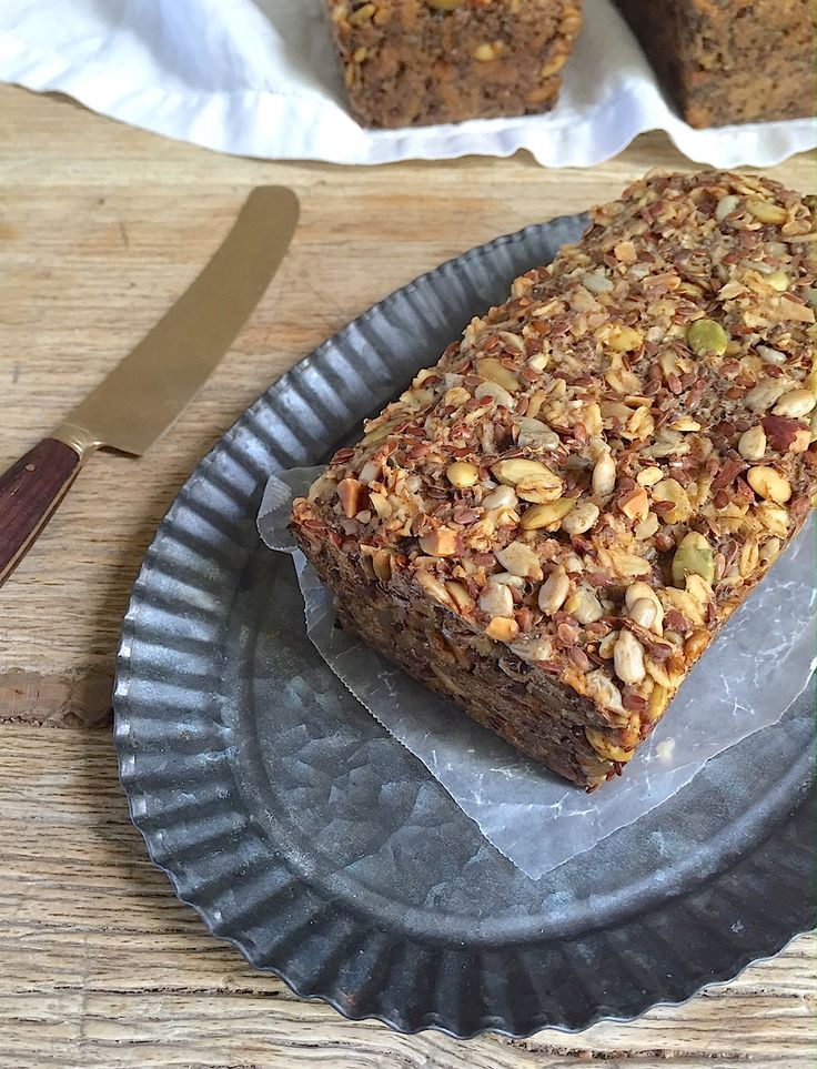 This bread is jam packed with nuts and seeds, giving it terrific texture, excellent flavor, and a boatload of good nutrition.