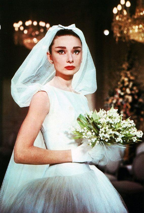 Audrey Hepburn Wedding Dress- Funny Face-Ivory Cream Short Wedding Dress--1950s Bridal-Bespoke Custom made to size