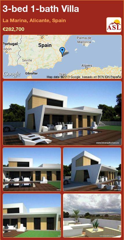 3-bed 1-bath Villa in La Marina, Alicante, Spain ►€282,700 #PropertyForSaleInSpain