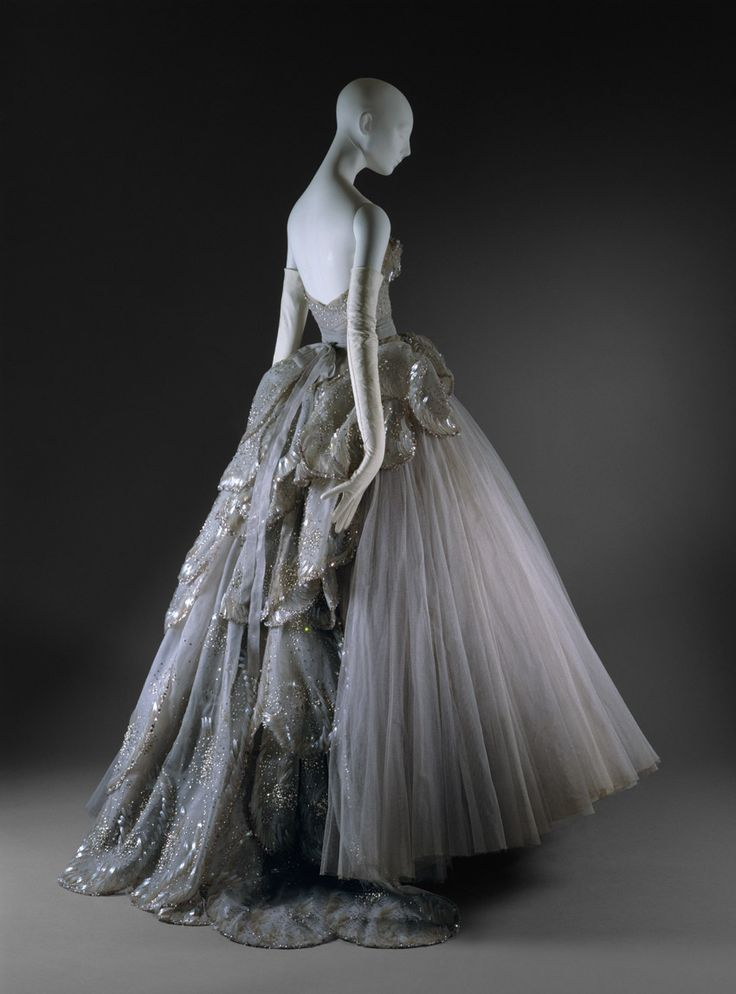 "Christian Dior (French, 1905-1957). ""Venus"" Evening Gown, fall/winter 1949-50. The Metropolitan Museum of Art, New York. Gift of Mrs. Bryon C. Foy, 1953 (C.I.53.40.7a_e) 
