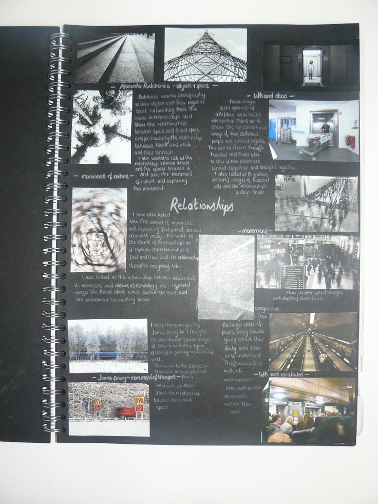AS Photography, A3 Black Sketchbook, Brainstorm, ESA Theme Relationships, Thomas…