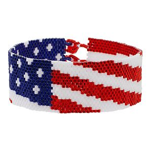 Spangled Banner Bracelet | Fusion Beads Inspiration Gallery