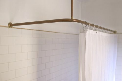 copper shower rail - Google Search