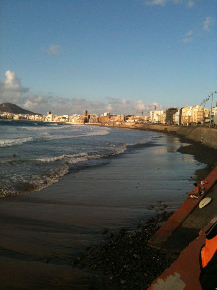 Playa de Las Canteras, Gran Canaria. Islas Canarias