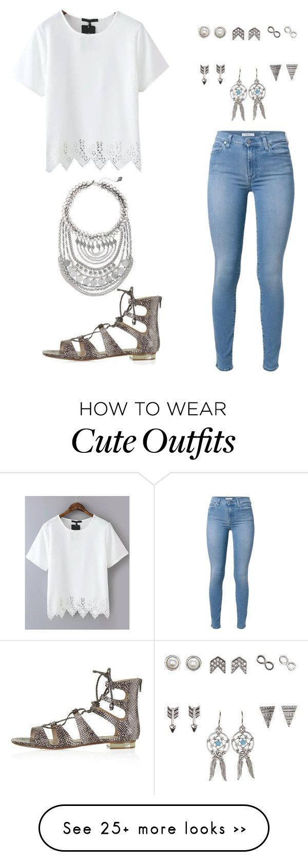 """Cute outfit"" by snhollick on Polyvore featuring 7 For All Mankind, Charlotte Russe, Topshop and Express"