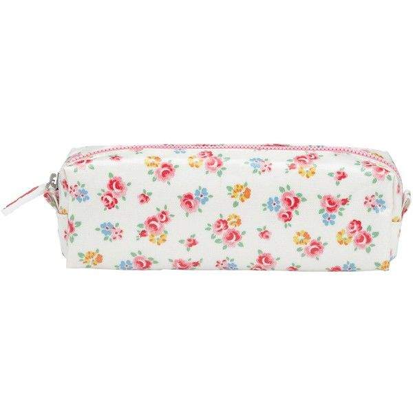 Cath Kidston Freston Rose Pencil Case, White/Multi (25 BRL) ❤ liked on Polyvore featuring home, home decor, office accessories, bags, school, zipper pencil pouch, cath kidston, zipper pencil case and zip pencil case