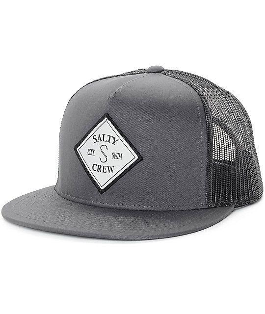 quality design 6a196 40b6f ... purchase salty crew tippet grey black trucker hat 0e5a1 ef57e