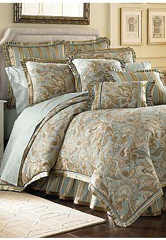 J Queen New York Valdosta Aqua Comforter Set