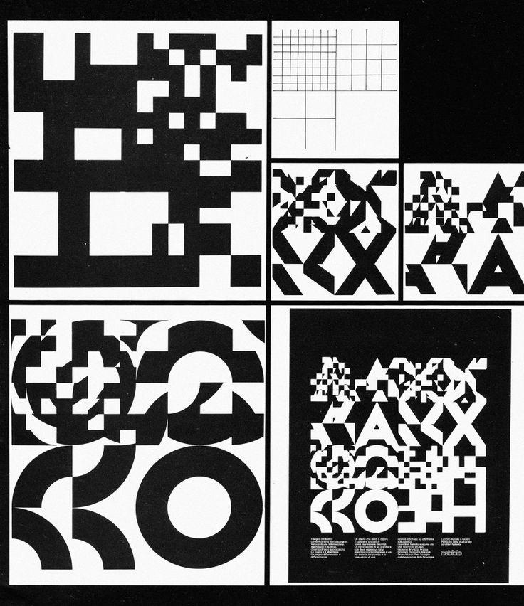 """Evoluzioni progettuali pubblicate da Pino Tovaglia nel catalogo della mostra """"Progetto struttura: metodologia del design"""" (15 marzo – 19 aprile 1975, Livorno, Museo Progressivo d'Arte Contemporanea)"""