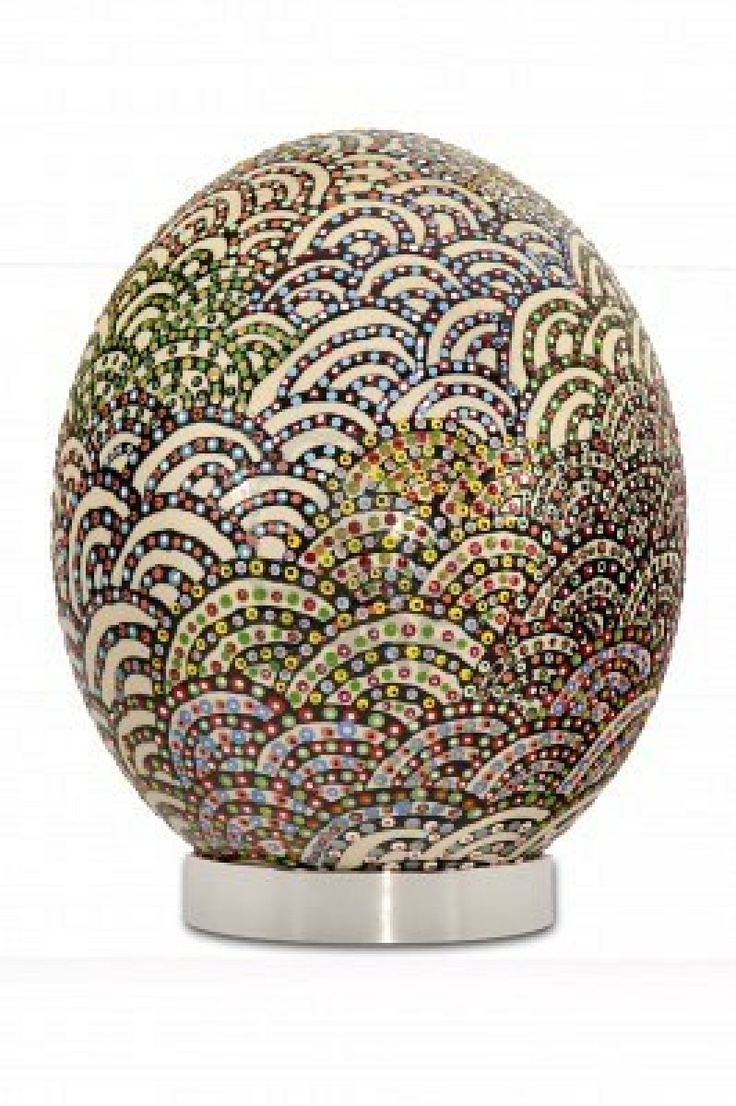painting on a egg of an ostrich | Ostrich Egg Art ...