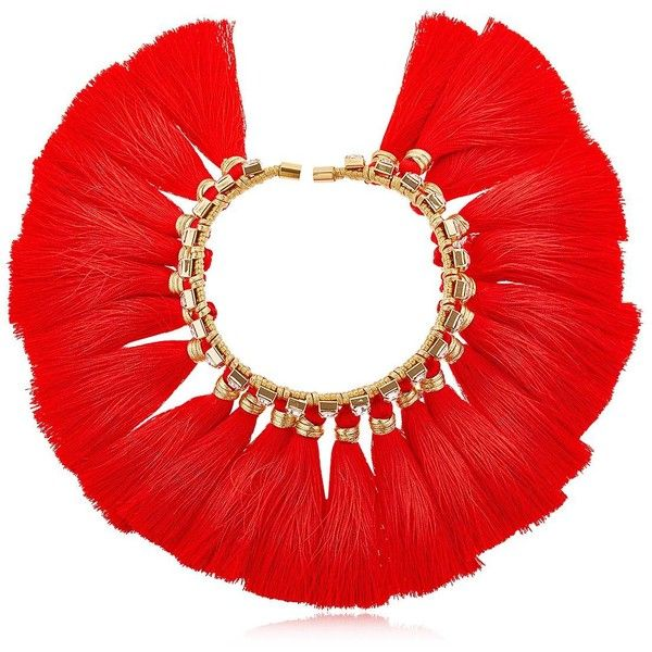 Vanina Women The Bowing Alma Choker Necklace (5.384.975 IDR) ❤ liked on Polyvore featuring jewelry, necklaces, red, swarovski crystal jewelry, bow choker, red necklace, cord necklace and tassel jewelry