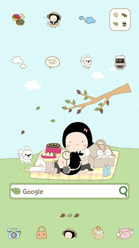 Cute android theme for line launcher
