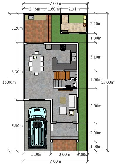 1000 images about home archis on pinterest black front for 6 car garage size