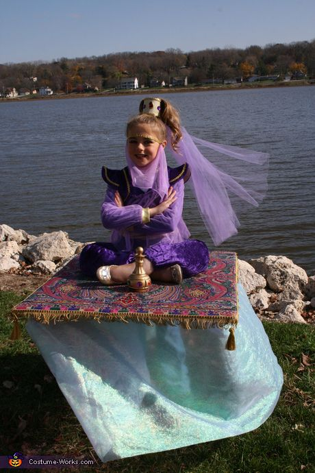 DIY Illusion costume ideas - Genie on a Magic Carpet Costume