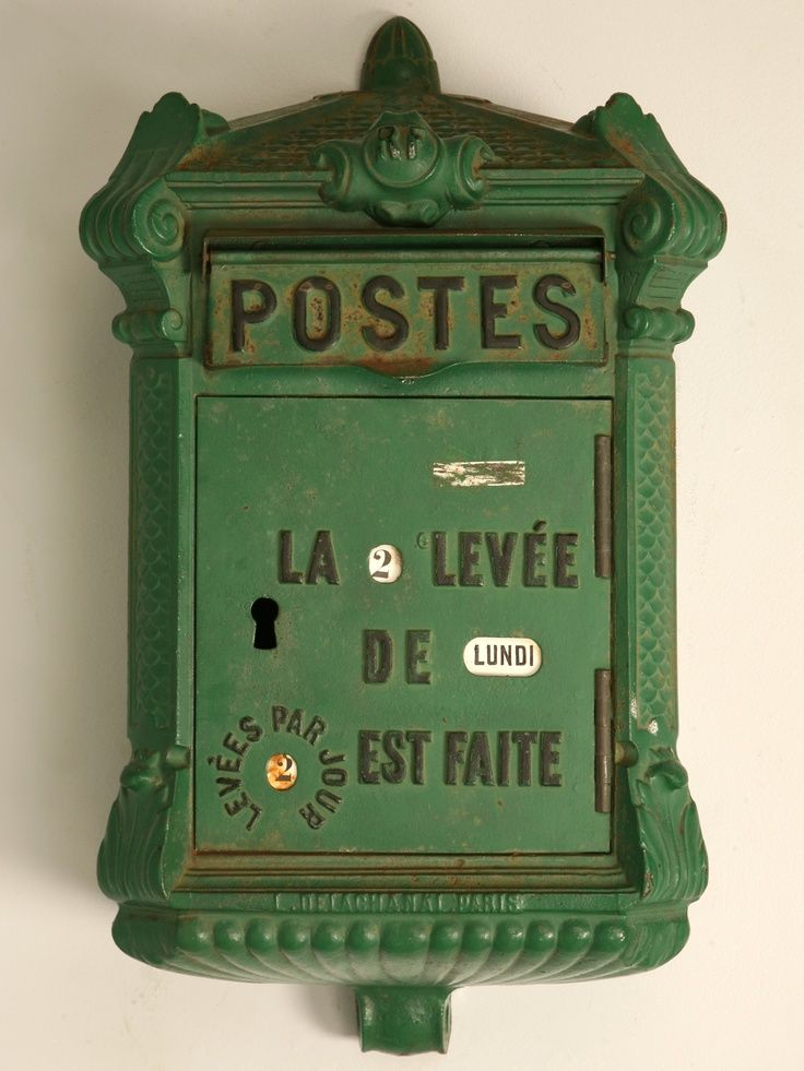 boite aux lettres vintage bo tes lettres pinterest boxes posts and antiques. Black Bedroom Furniture Sets. Home Design Ideas