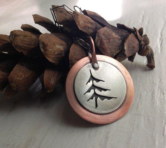 Pine Tree Layered Cutout Necklace - Dark Matter Series
