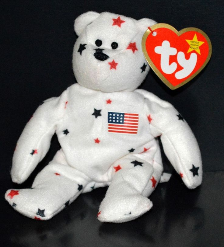 TY Teenie Beanie Baby Glory American Flag Bear McDonald's Limited ...