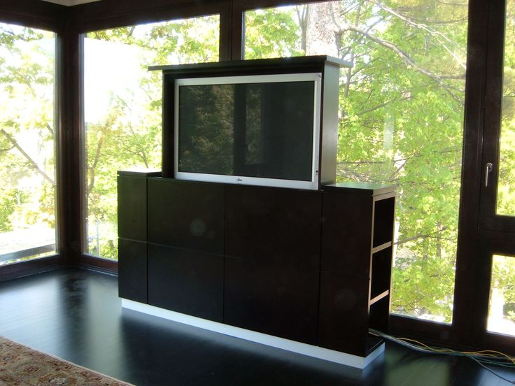 Lift-up plasma TV stand and cabinet
