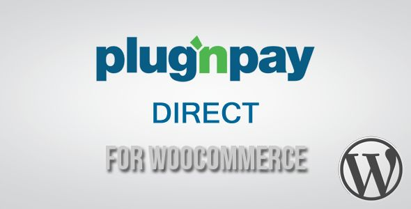 Plug'n Pay Direct Gateway for WooCommerce   http://codecanyon.net/item/plugn-pay-direct-gateway-for-woocommerce/3746082?ref=damiamio       Plug'n Pay delivers the industry's easiest-to-integrate eCommerce gateway . . .plus a wide range of innovative, cost-effective solutions to maximize online and point-of-sale profits, reduce fraud and build customer loyalty.  	 This Plugin allows you to accept Payments through WooCommerce Store using the Plug'n Pay Merchant Account on your site.  	 NOTE…
