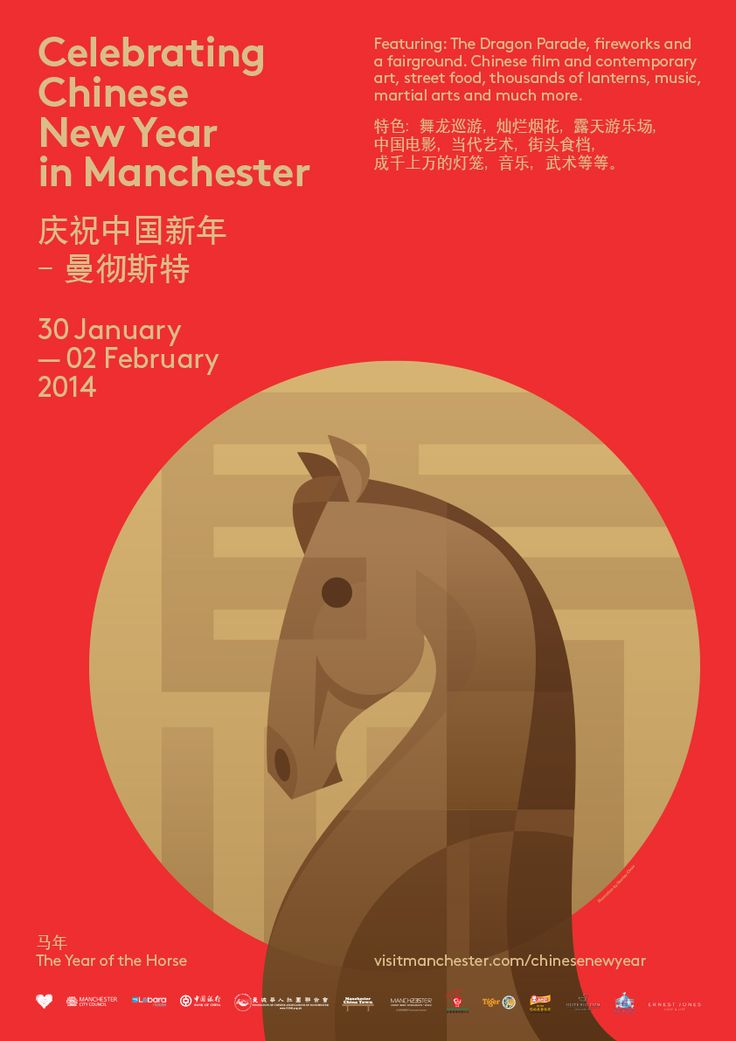 Stanley Chow Illustration of Manchester England - Chinese New Year 2014