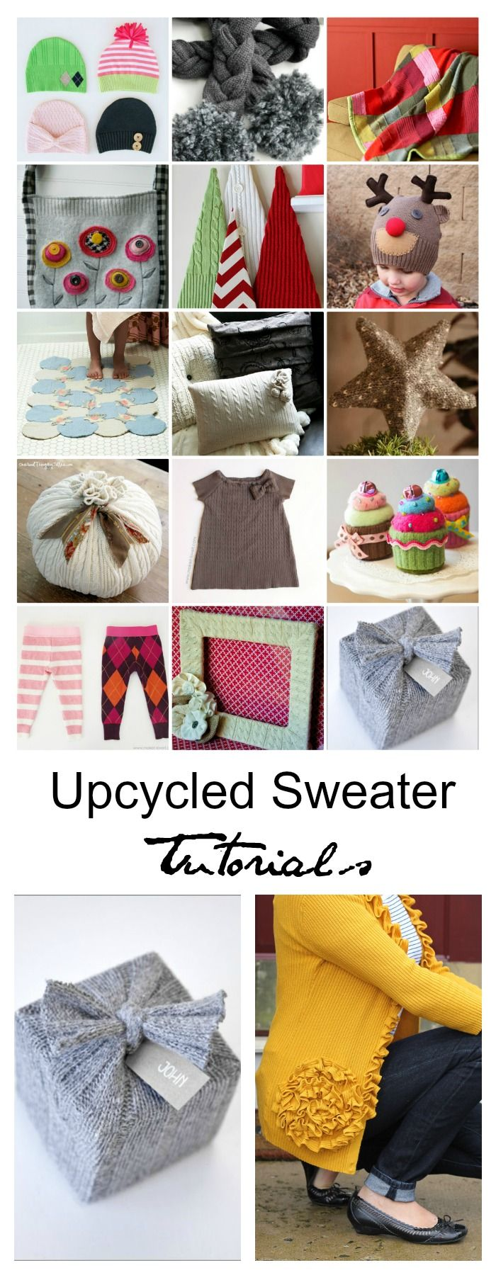 Upcycled Sweater Tutorials Pin 785 best Creative Gifts images on