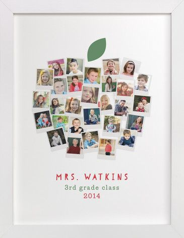 Apple for the Teacher by Laura Bolter Design at minted.com