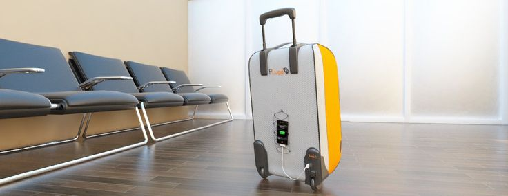 PLugg #Travel #Luggage that integrate a #battery #charger in the wheel. And uses the rolling motion of the wheel to charge your devices. www.p-lugg.com www.facebook.com/... twitter.com/...